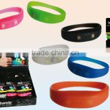cheap custom party product silicone LED sound activated Flashing bracelets/silicone led flashing bracelet