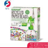 Recycled Paper Beads Handmade Toys For Kids Children Beads For Jewelry Making