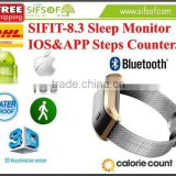 SIFIT-8.3 Sleep Monitor Pedometer. Bracelet Pedometer. Steps Counter. Fitness Sleep Monitor