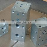 Custom Made Anodized Aluminum hydraulic manifold blocks