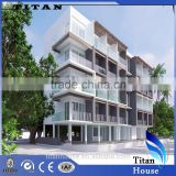 China Luxury Light Steel Frame Fabricated Guest Houses