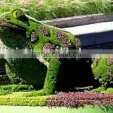 fake grass animal manufacture high color fastness UV/water proof artificial grass topiary