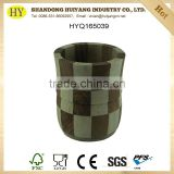 custom natural unfinished poplar and chinaberry wood vase wooden bucket wholesale