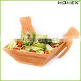 Bamboo Bowl Kitchen Counter Salad Bowl Set Homex BSCI/Factory