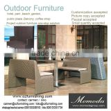 9163 modern style outdoor rattan wicker tables chairs outdoor highback sofa restaurant coffee shop dining set