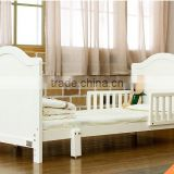 Antique Pure White Solid Wood Teenage Bed, Solid Wood Convertible Kids Bed with Toddlers BF11-08053a