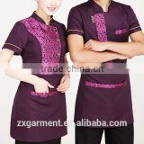 OEM new design Chinese hotel restaurant uniform waiter waitress uniform