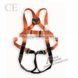 CE EN354 full body safety harness safety belt 100%polyester safety harness industrial safety harness