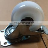 High quality hot sale high loading capicity pu wheel with brake caster heavy duty scaffold caster with lock