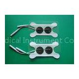 Swallowing Electrode With 2.0mm Pin Wire, White Bone 82*32MM FDA Physiotherapy Tens Unit Pads