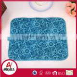 Competitive Factory Price microfiber kitchen dish drying mat, good quality printed drying mat