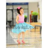 Charming Y back cut-out dress for little girl - DR 2379
