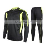 China long sleeve cstom design black cheap high quality football jersey men's soccer kits