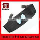 100% polyester black wedding gentle cummerbund and bow tie set