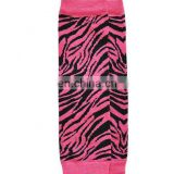 Hot Pink Zebra Print Striped Leg Warmers Baby Leg Warmers Arm Warmers