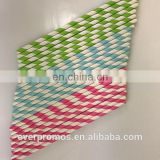Biodegradable Striped Paper Straws for Party - Custom Printed Logo Biodegradable Paper Straws