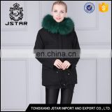 Men and Women short black rabbit fur coat with real lined