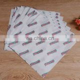 Custom china paper suppliers grease proof wrapping paper for Mexican chicken roll /burger