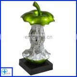 green eaten apple table decor-resin fruit