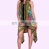 Indian Women Kimono Jacket Dashiki Cardigan Long Top Blouse Beach Turquoise Cover Up Dress