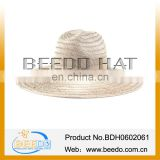 2014 Hot sale Hollow grass straw hat folding cowboy hat