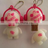 Cute music doll pvc usb pen drive