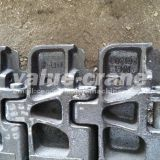 High quality crawler crane Zoomlion QUY80 track shoe track pad