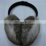 hot sales grey color real rabbit fur earwarmer