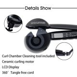LCD Digital Automatic Magic Hair Curler Professional Fast Ceramic Wave Hair Styling Rotating Hair Curler