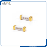 10.25x3.2mm Brick High Inrush Type Surface Mount Fast Blow Ceramic Tube Fuse 125VAC With Max. Current 30A
