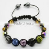 beautiful shamballa beads bracelet/ disco ball bracelet/pave crystal ball bracelet/fireball bracelet