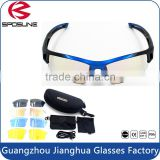 Shatterproof PC lens anti glare outdoor sports sunglasses anti UVA UVB new fashion driving racing glasses