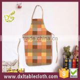 Household Printing plaid graphic Plastic Bib kitchen Apron