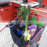 divider inserted grocery cart shopping bag for food store grocery store for mall