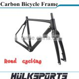 Cyclocross bicycle frame Toray T700 Full carbon road bike frameset 700C carbon frame and fork