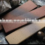 Unglazed split exterior wall tile