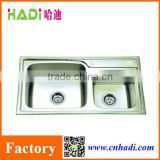apron front doulbe kitchen sink stainless steel sink HD8043