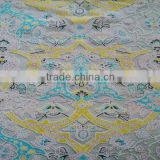2016 new Italian colorful cheap flower lace fabric wholesale overseas