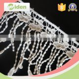 Lace with stone work African French lace fabric fringe chemical lace                                                                                                         Supplier's Choice