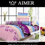 wholesale microfiber colorful fabric for varies family pattern full size bed sheet/ bedding sets home textile