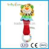 Babyfans Funny Rattle Plush Soft Fabrics Teether Children Hand Bell Baby Toys