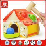 4 wood ball with a hammer handmade wooden toys house pounding kids learning toys percussion music educational toys for kids