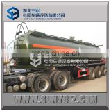 45000L 45M3 three axles 12 wheels chemical liquid tank trailer for transport caustic soda