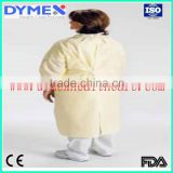 Yellow Blue SMS Nonwoven Disposable Isolation Surgical Gowns