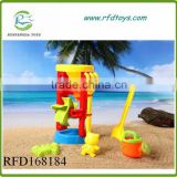 New 6pcs plastic beach hourglass for kids outdoor summer toy hourglass