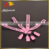 Music concert gift items polyester VIP wristbands with custom logo