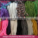 Cotton nylon polyester polypropylene braided rope