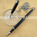 2015 new desk pen with chain for hotel, bank, office