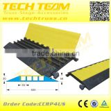 4 channel cable protector, 900X600X58mm,Rubber Base & Plastic Flap load-bearing:20t