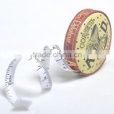 39inch/1m mini retractable fancy pu tape measure with Company Logo or Name